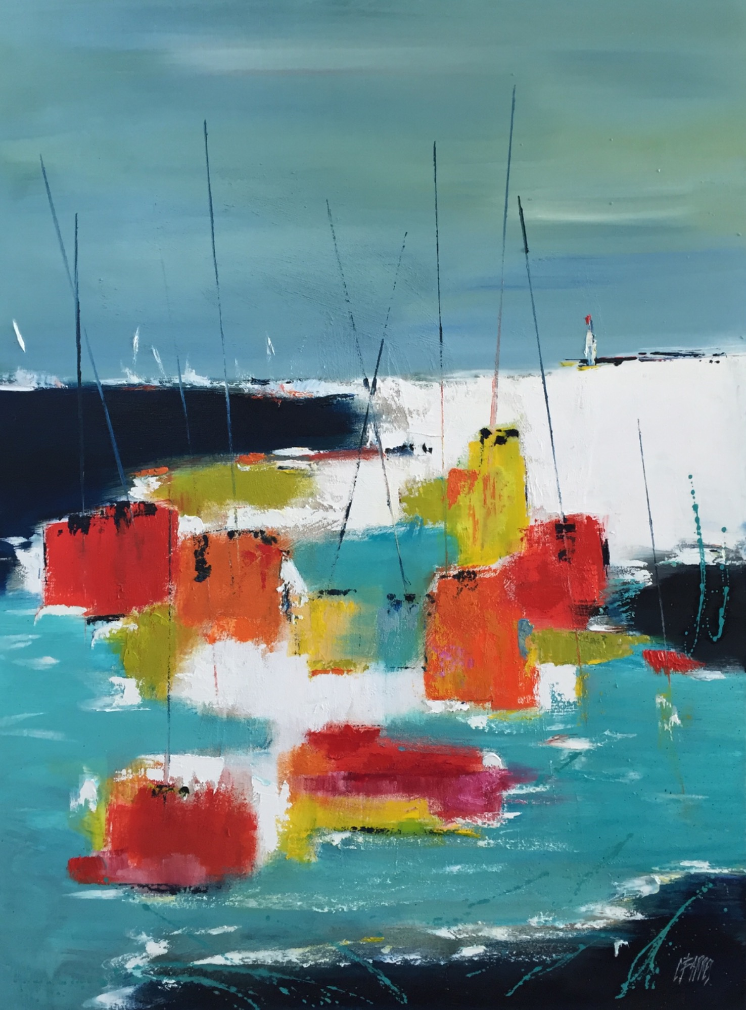 Tableau voiliers série marine
